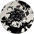 rug #550553 | round black natural rug
