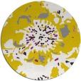 rug #550581 | round yellow abstract rug