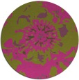 rug #550609 | round light-green abstract rug