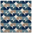 rug #551009 | square white retro rug