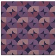 rug #551081 | square blue-violet retro rug