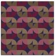 rug #551093 | square beige circles rug