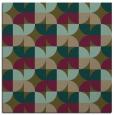 rug #551105 | square brown retro rug