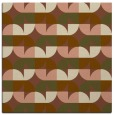 rug #551129 | square brown retro rug
