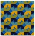 rug #551153 | square blue circles rug