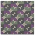 rug #551165 | square purple circles rug
