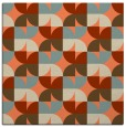 rug #551181 | square orange circles rug