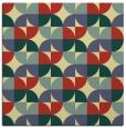 rug #551189   square yellow circles rug