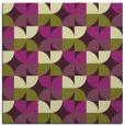 rug #551213 | square purple circles rug