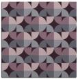 rug #551221 | square purple circles rug