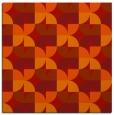 rug #551229 | square red retro rug