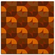 rug #551241 | square red-orange circles rug