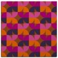 rug #551249 | square red-orange retro rug