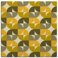 rug #551273 | square yellow circles rug