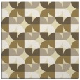 rug #551277 | square yellow retro rug