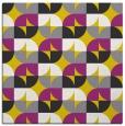 rug #551285 | square yellow circles rug