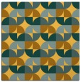 rug #551289 | square light-orange circles rug