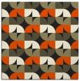 rug #551293 | square black circles rug