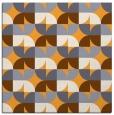rug #551333 | square light-orange circles rug