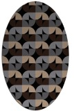 rug #551349 | oval black circles rug