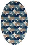 rug #551361 | oval white circles rug