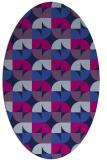 rug #551365 | oval pink popular rug