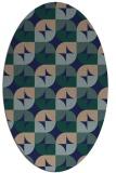 rug #551369   oval blue-green circles rug