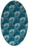 rug #551385 | oval blue-green circles rug