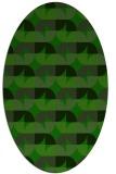rug #551405 | oval green circles rug