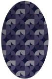 rug #551421 | oval blue-violet retro rug