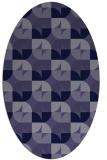rug #551426 | oval retro rug