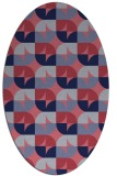 rug #551432 | oval circles rug