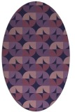 rug #551433 | oval purple circles rug