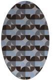 rug #551449   oval blue-violet retro rug