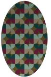 rug #551457 | oval mid-brown rug