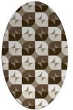 rug #551477 | oval white retro rug