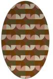 rug #551481   oval brown retro rug
