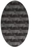 rug #551485 | oval brown retro rug