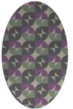 rug #551517 | oval beige retro rug
