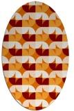 rug #551529 | oval orange circles rug