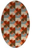 rug #551533 | oval orange circles rug