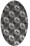 rug #551537 | oval orange circles rug