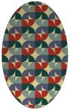 rug #551541 | oval yellow circles rug