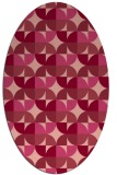 rug #551554 | oval circles rug