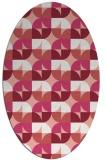 rug #551557 | oval white circles rug