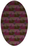 rug #551561 | oval purple circles rug