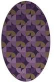 rug #551569 | oval purple circles rug