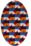 rug #551577 | oval red circles rug