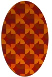 rug #551581 | oval red retro rug