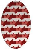rug #551585 | oval red rug